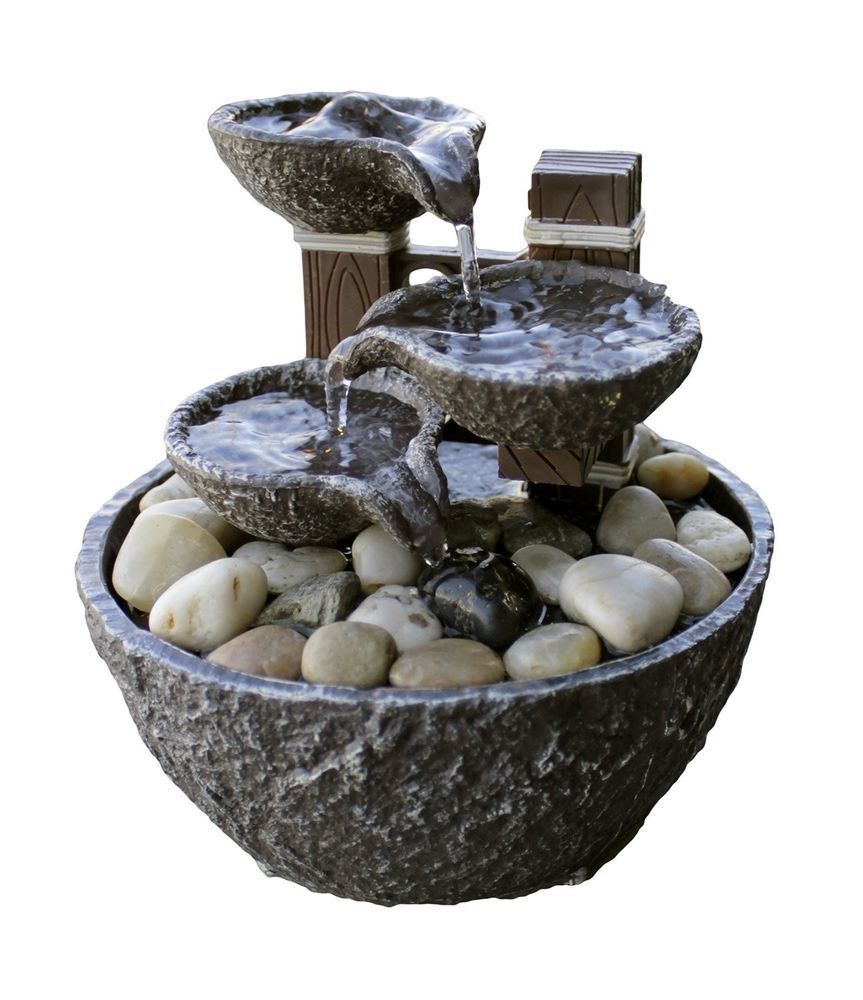 Details About Indoor Water Fountain Lights Led 6 Tier Waterfall