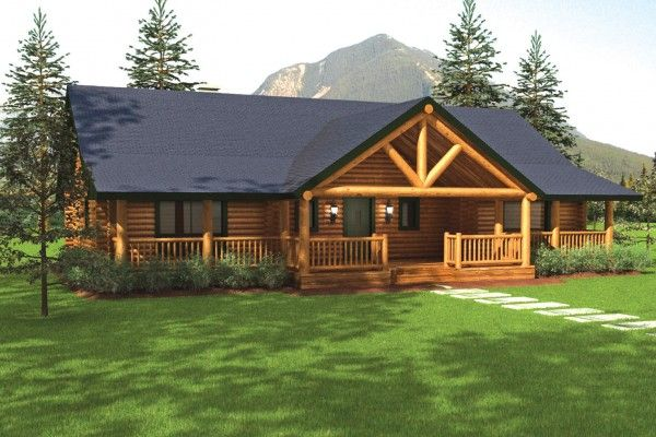 Sequoia Ii Home Plan Log Home Plans Ranch House Plans