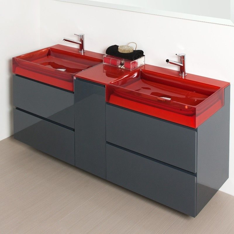 Regia Badmöbelkombination Niky 72cm hoch Variante BC - moderne badezimmer ideen regia