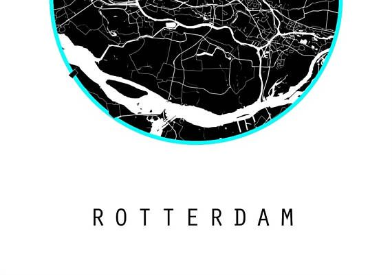Map netherlands map world map art for the wall black and white rotterdam map netherlands map world map art for the wall black and white map holland map gumiabroncs Gallery