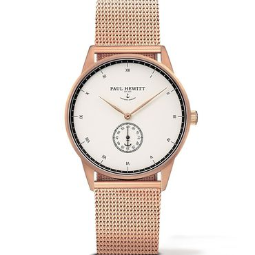 Paul Hewitt Signature Line Unisex White Dial And Rose Gold Bracelet Watch Ph M1 R W 4m Rose Gold Watches Paul Hewitt Watches Paul Hewitt