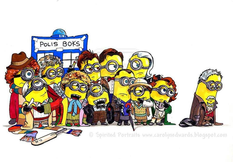 Dr Who Minions!!!!! Eeeeekkkkkkkk hahahahahahahahah poor peter hahahahahahahahahahahahah I'm sorry I laughed way too hard