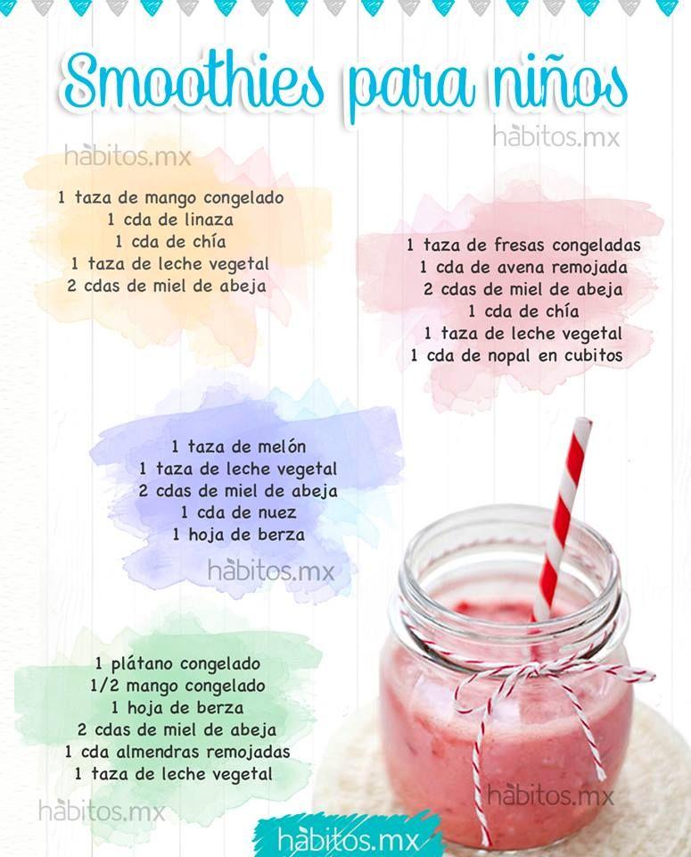 Smoothies para ni os comida sana pinterest smoothies for Comida saludable para ninos
