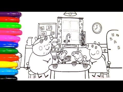 Peppa Pig Coloring Book George Pig Is Playing With His Dinosaur Kids Safe Channel Youtube Peppa Pig Colouring Coloring Books Kids Safe