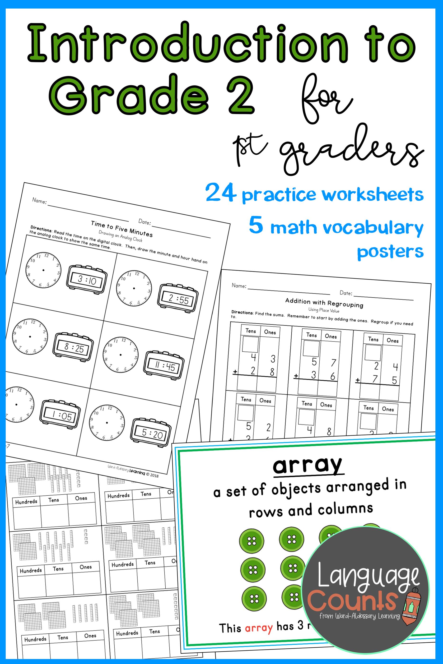 Introduction To Grade 2 Topics 1st Grade