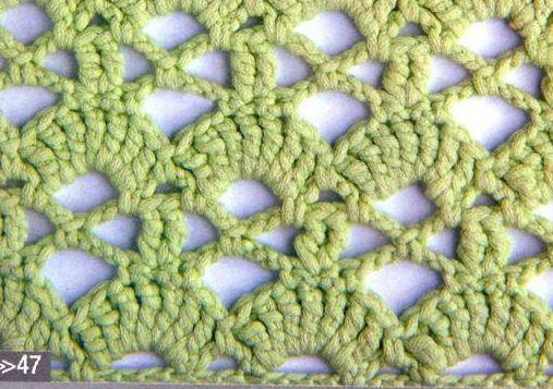Patrón #1255: Punto Calados a Crochet #ctejidas http://blgs.co ...