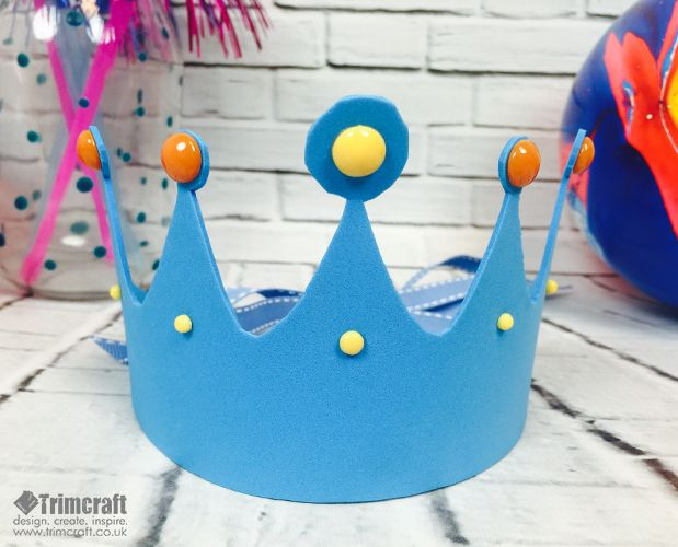 Kids Craft Foam Crown Tutorial with Free Printable Template - crown template