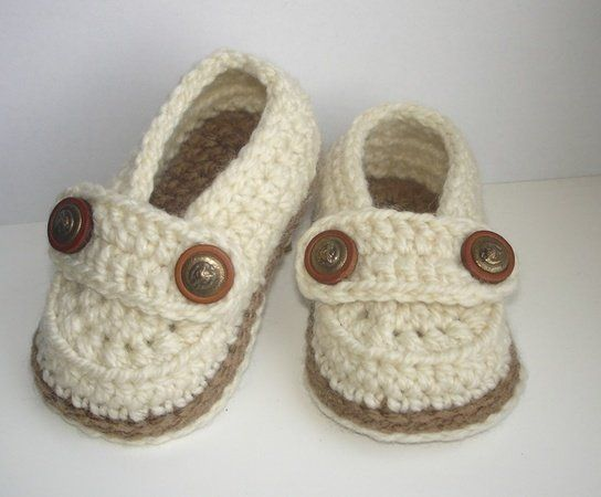 Easy Crochet Pattern Baby Loafers Baby Booties Crochet Booty For