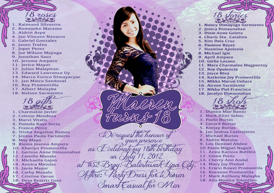 Maeren S Debut Invitation Debut Invitation Invitation Design Birthday Debut Invitation 18th