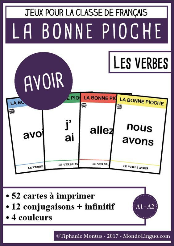 Bp Le Verbe Avoir Mondolinguo Francais Verbe Avoir Grammaire Francaise Verbe