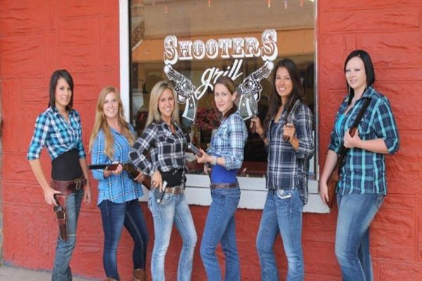 Shooters Grill: Where Waitresses Carry Guns for Jesus!   Colorado, American  women, Grilling