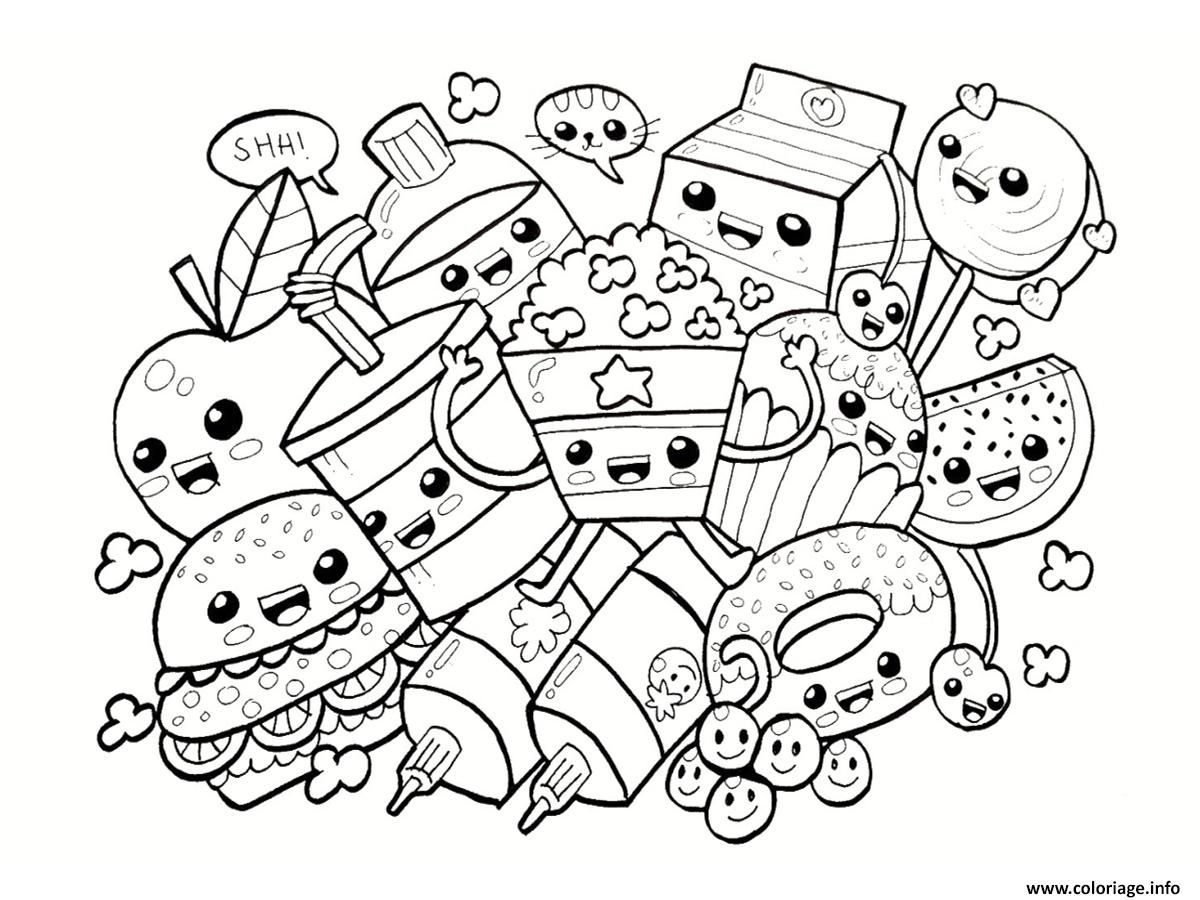 Coloriage Dessin Aliments Kawaii Dessin Collection Coloriage