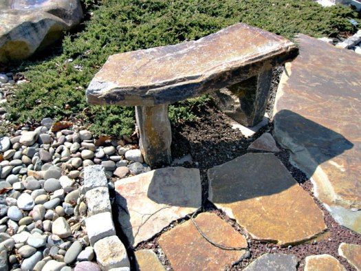Natural Stone And Hardscape Offers Limitless Versatility In The Landscape Stone Bench Landscape Stone