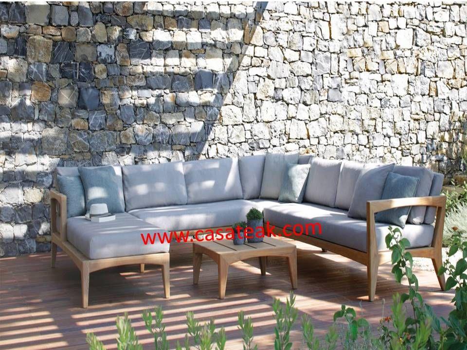 Wooden Sofa Teak Wood Garden Sofa Kl Solid Teak Wood L Shape Sofa Terrace Furniture Outdoor Furniture Design Outdoor Sectional Sofa