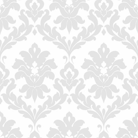 Grey And White Damask Wallpaper For Office