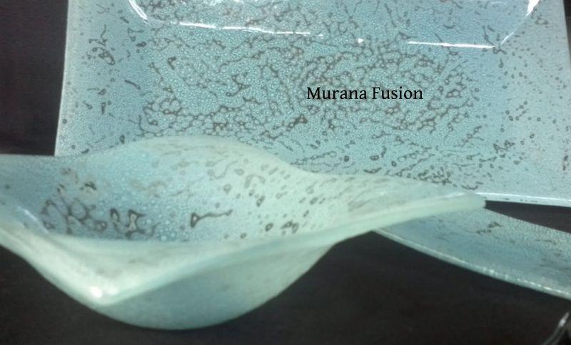 Vajilla en Vitrofusion Color Aguamarina Bandejas, centros concavos