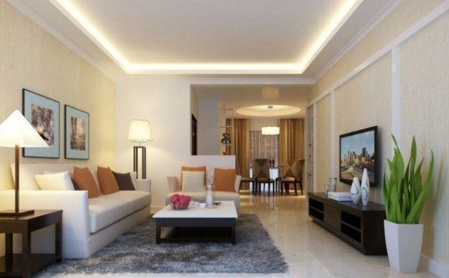 Perfekt Indirekte Beleuchtung Ideen Deckenbeleuchtung Modernes Wohnzimmer
