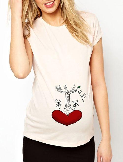 c030715325 Camisetas divertidas para grávidas (as mais fofas que você já viu ...