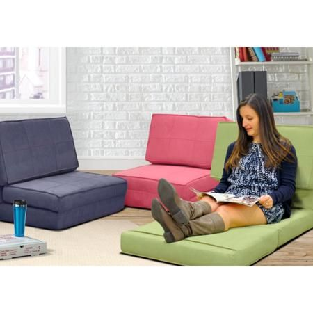Walmart Your Zone Flip Chair Multiple Colors Folding Sofa Bed Furniture Dorm Couch