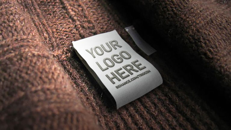 Embossed Clothing Tag Logo Mockup With Images