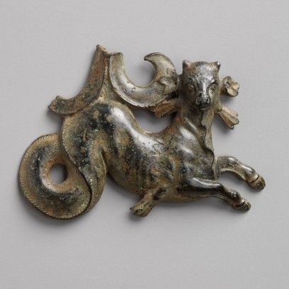 Greek, Hellenistic; Ancient, Vessel Attachment in the Form of a Sea Bull, 4th century BCE-3rd , bronze