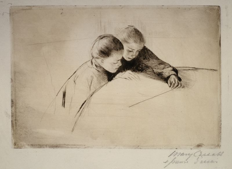 Mary Cassatt  American, 1844-1926, The Map