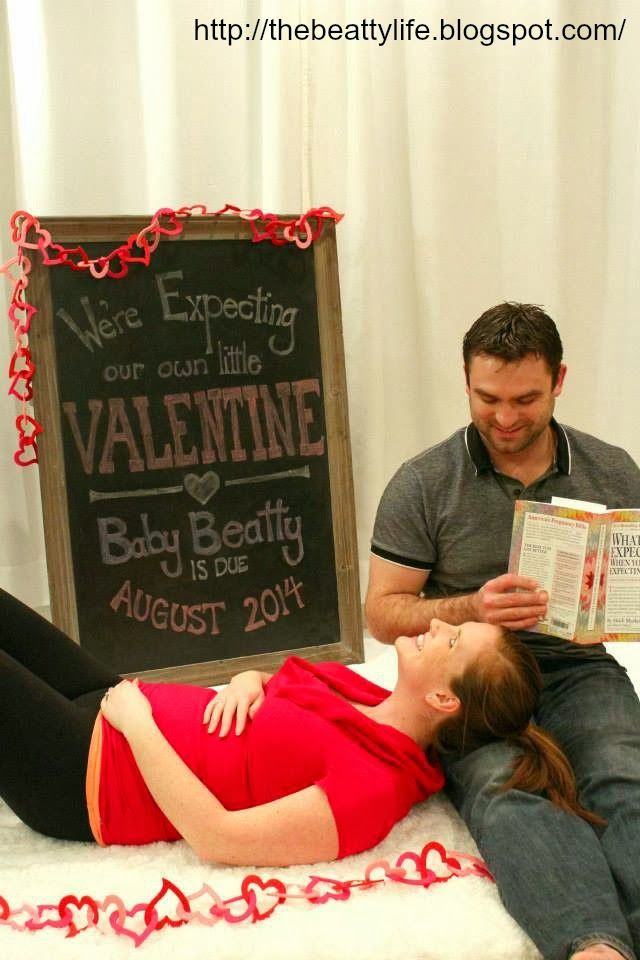 Our Valentine Baby Announcement we sent our family friends – Valentine Birth Announcement