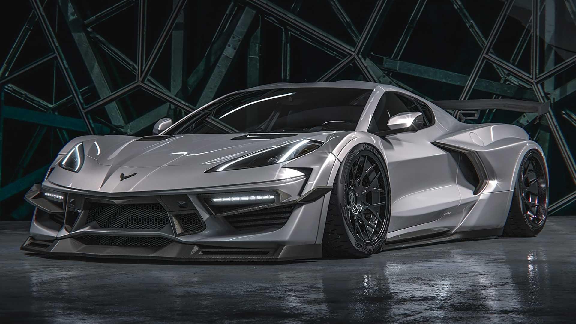 2020 C8 Corvette Widebody Rendering Takes Styling To A Whole New Level Renderingarchitecture Goruntuler Ile Corvette Chevrolet Corvette Chevy