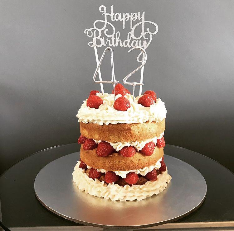 Cool Strawberrycream Strawberries Cream Birthdaycake Victoriasponge Birthday Cards Printable Riciscafe Filternl