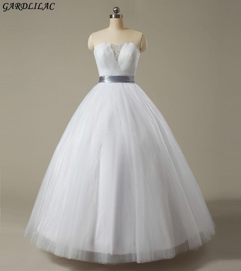 Simple off white wedding dresses  Gardlilac White Off the Shoulder Wedding Dress Cheap Tulle Beading