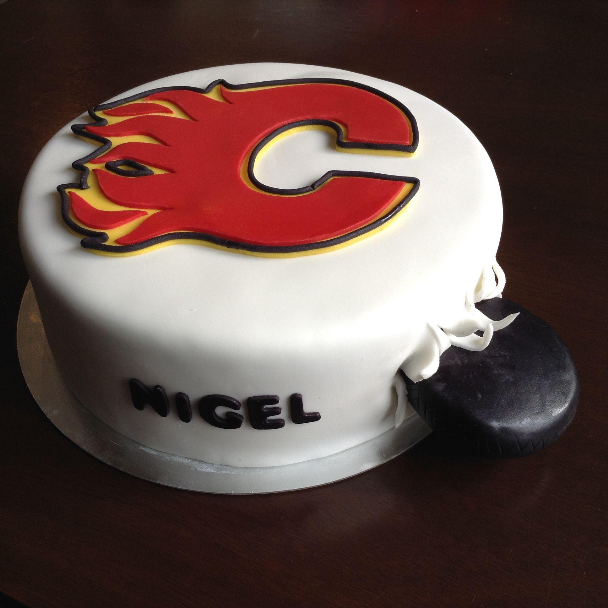 Calgary Flames cake Blazes 1st Bday Pinterest Cake Birthday