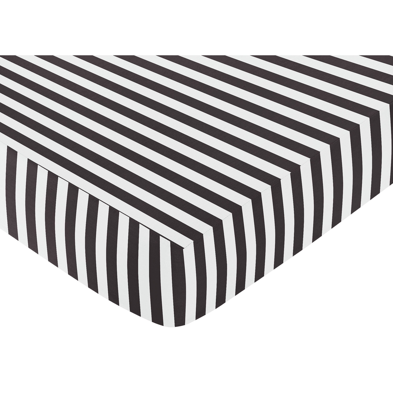 Sweet Jojo Designs Black And White Stripe Fitted Crib Sheet Henry Adam Pinterest Ninos