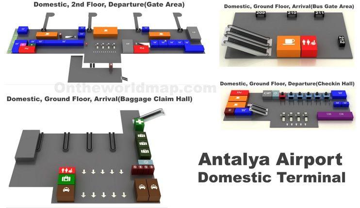 Antalya Airport Domestic Terminal Map Maps Pinterest Antalya