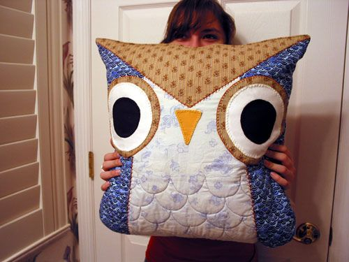 Owl Pillow #pillow #sewing #owl #cute