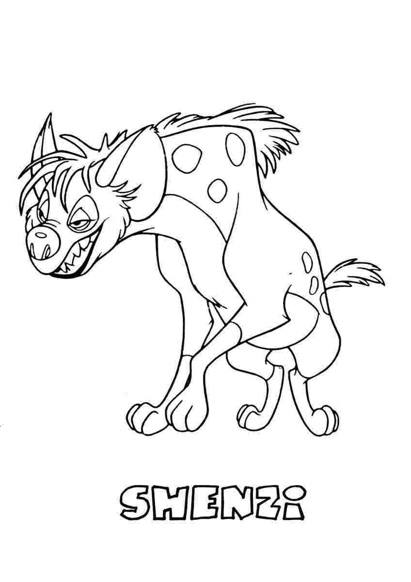Coloring Festival The Lion King Coloring Pages Hyenas More Than