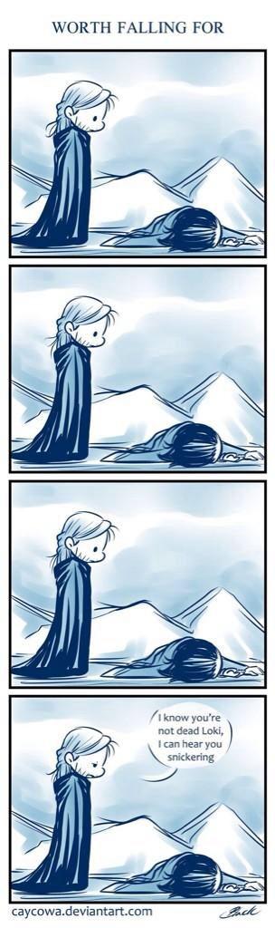 Thor and Loki. Via Twitter.