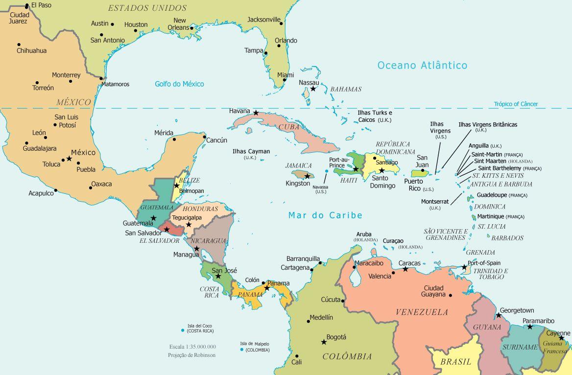 pinc dowden dowden on mapas | map, central america