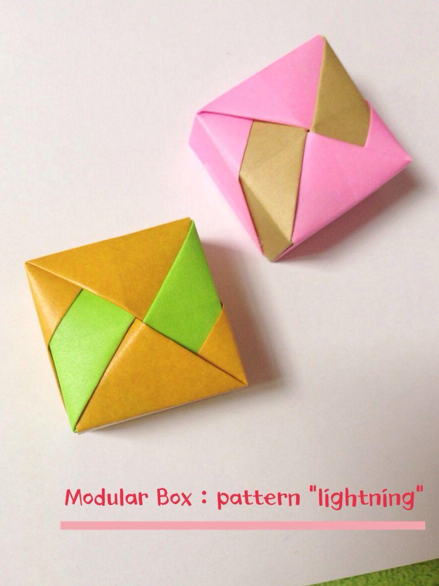 Modular square box 4 unit pattern lightning papel modular square box 4 unit pattern lightning jeuxipadfo Image collections