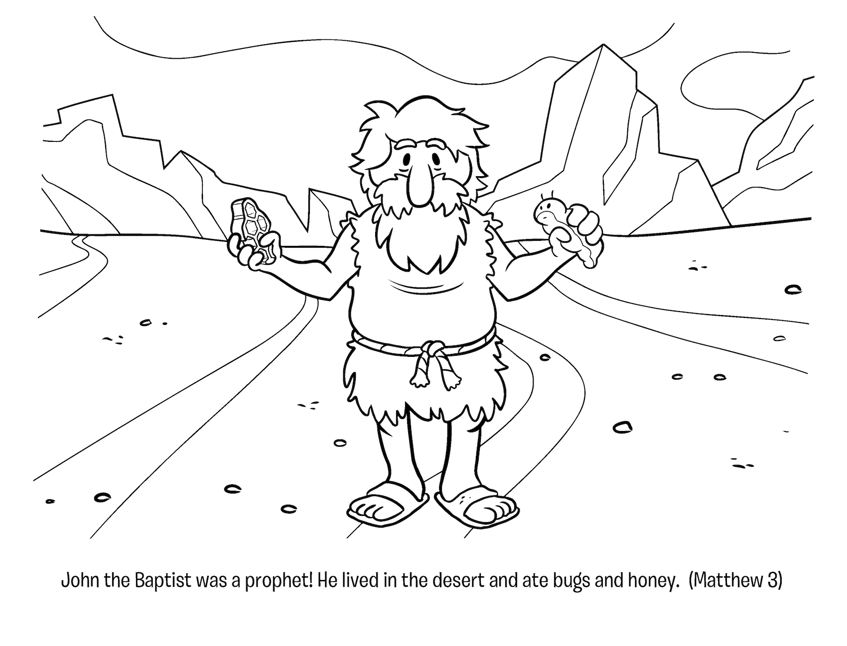 Image Result For John The Baptist Coloring Page