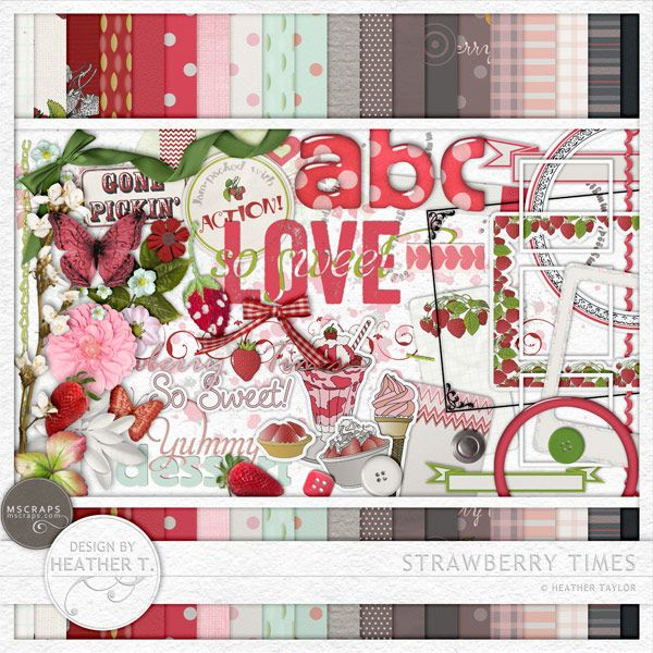 Strawberry Times :: Full & Mini Kits :: Memory Scraps