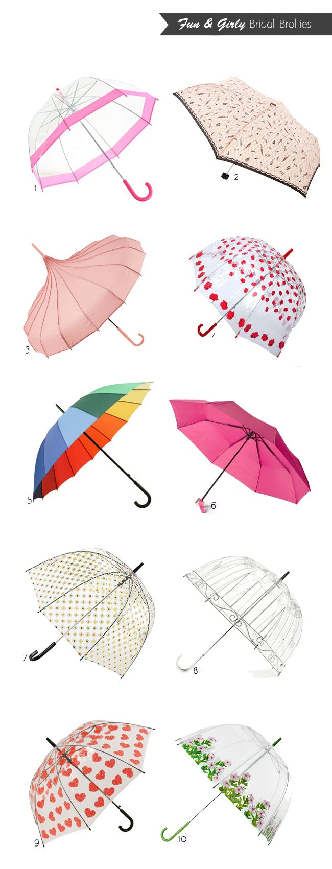20 of the Best Wedding Umbrellas #bestumbrella