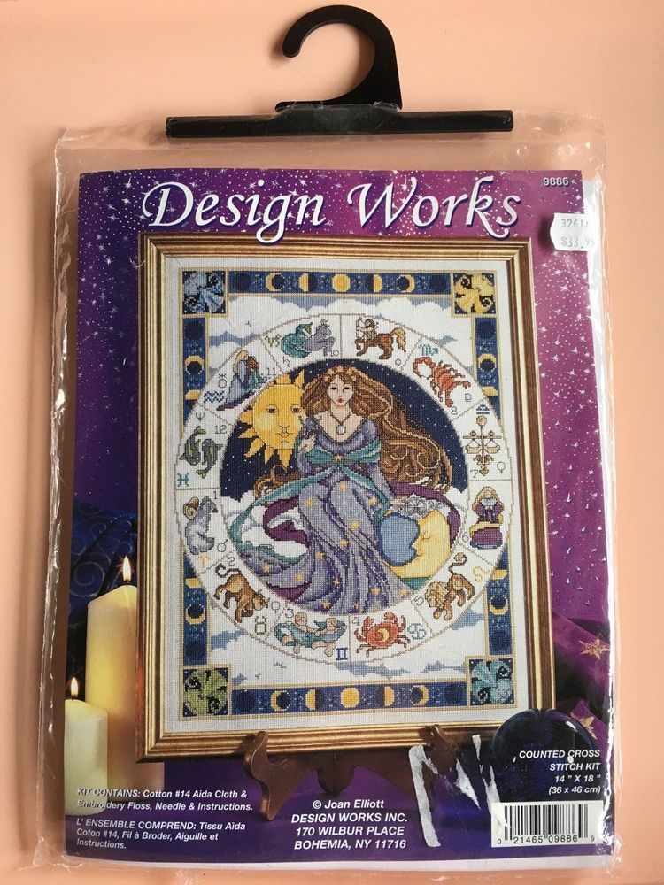 Details about Design Works Counted Cross Stitch Kit Woodland Castle