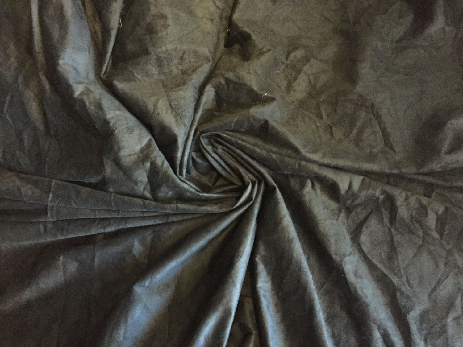 Black Suede Fabric, heavy weight, supple and soft with stretch, 2 yard piece, 60 inches wide by PromenadeFabrics on Etsy