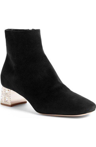 e1bc28c1bd49 MIU MIU Crystal Block Heel Bootie (Women).  miumiu  shoes  boots ...