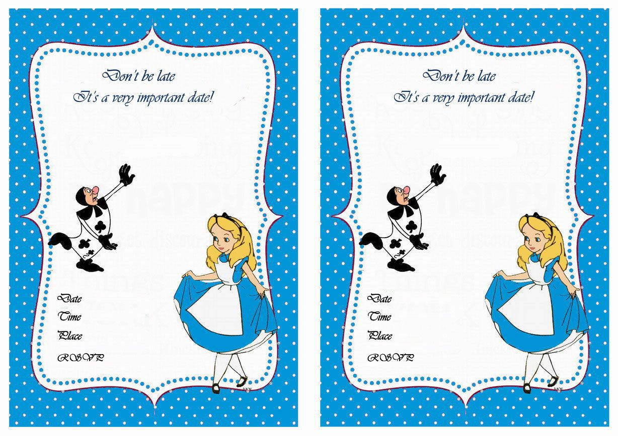 Alice in wonderland free printable birthday party for Alice in wonderland tags template