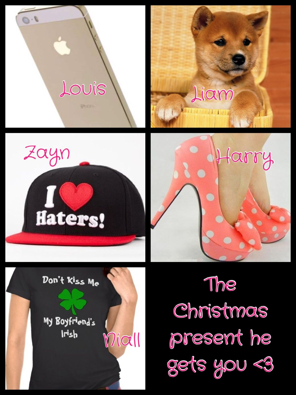 """One direction preference (my edit) please give credit :) """"The Christmas present he gets you <3"""""""