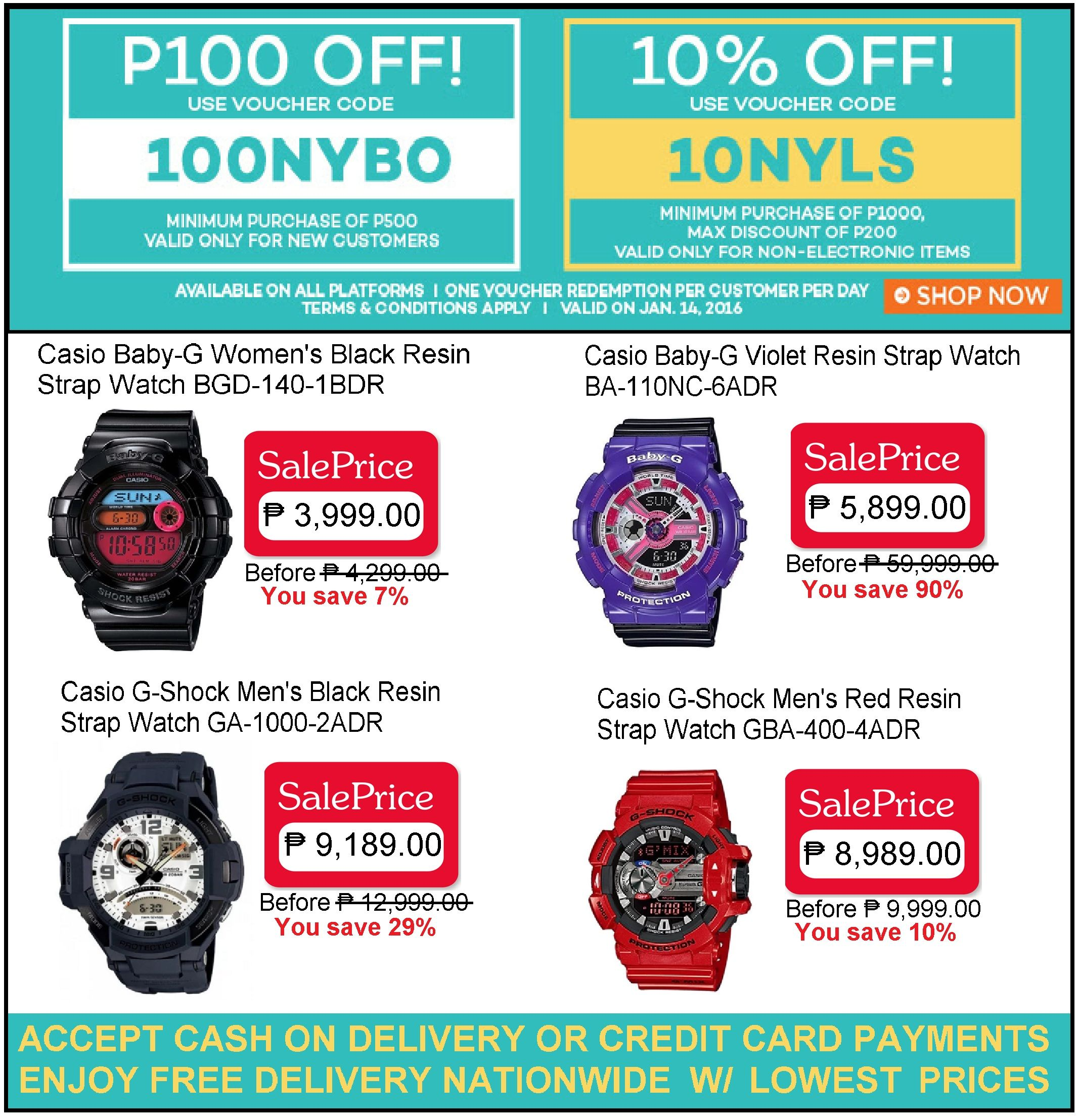 CASIO WATCH SALE LAZADA S NEW YEAR BLOW OUT PROMO SAVE P100 & 10