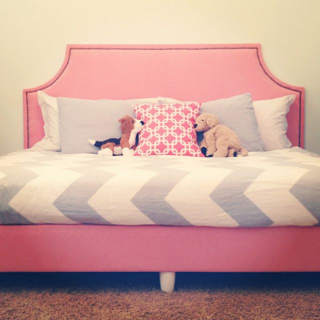 Twin bed... Wooden legs to box spring.   Room   Pinterest