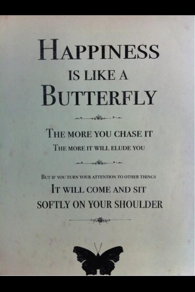 Happiness Is Like A Butterfly Butterfly Quotes Words Quotes