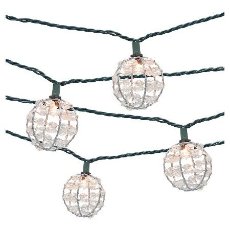10ct decorative string lights metal wire round cover with plastic 10ct decorative string lights metal wire round cover with plastic beads threshold aloadofball Gallery